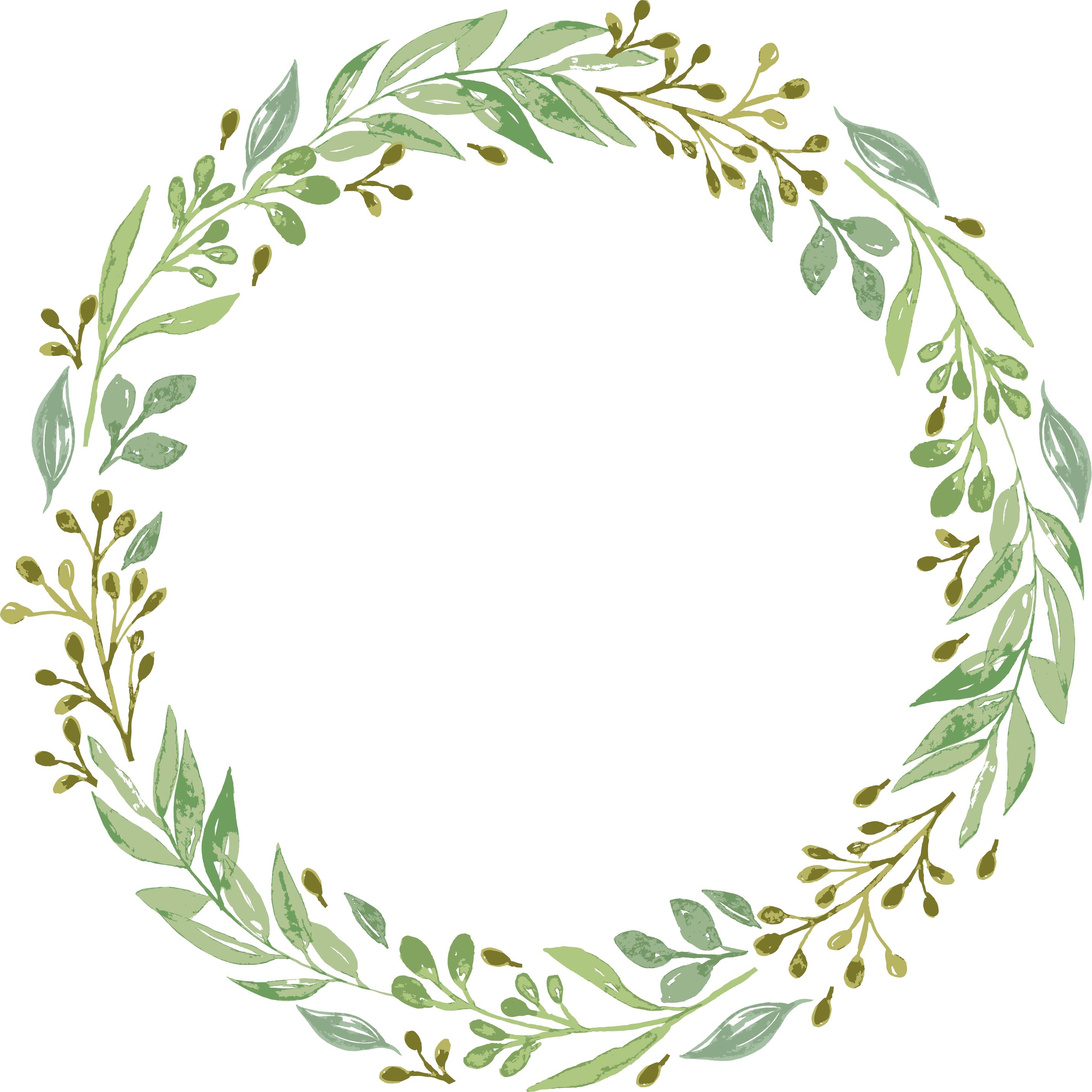 Resultado De Imagen Para Green Wreath Png Wreath Drawing Wreath Clip Art Wreath Watercolor