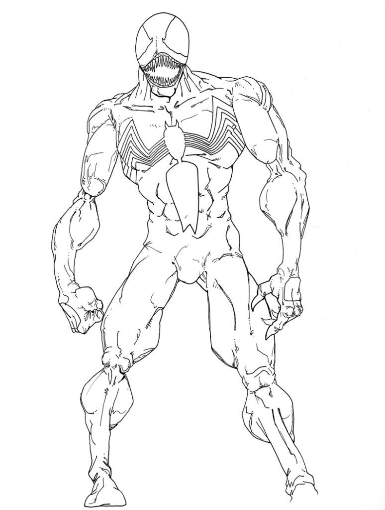 Venom Coloring Pages Free Comic Book Coloring Pages Pinterest
