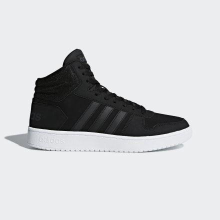 Hoops 2.0 Mid Shoes | Black shoes, Black adidas, Adidas