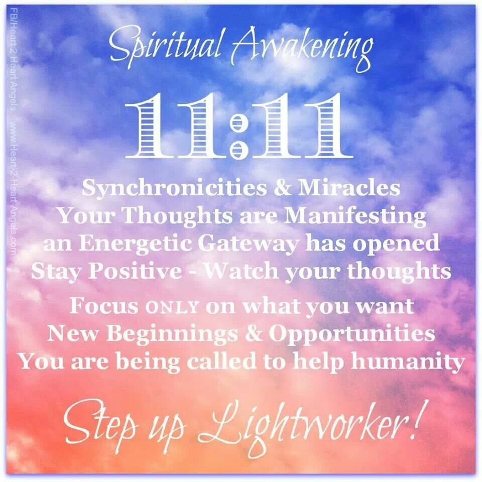 When noticing the Angel Number 1111 appearing, take notice of the thoughts  you had right at that moment, as 1111 indicates that your thoughts and  beliefs ...