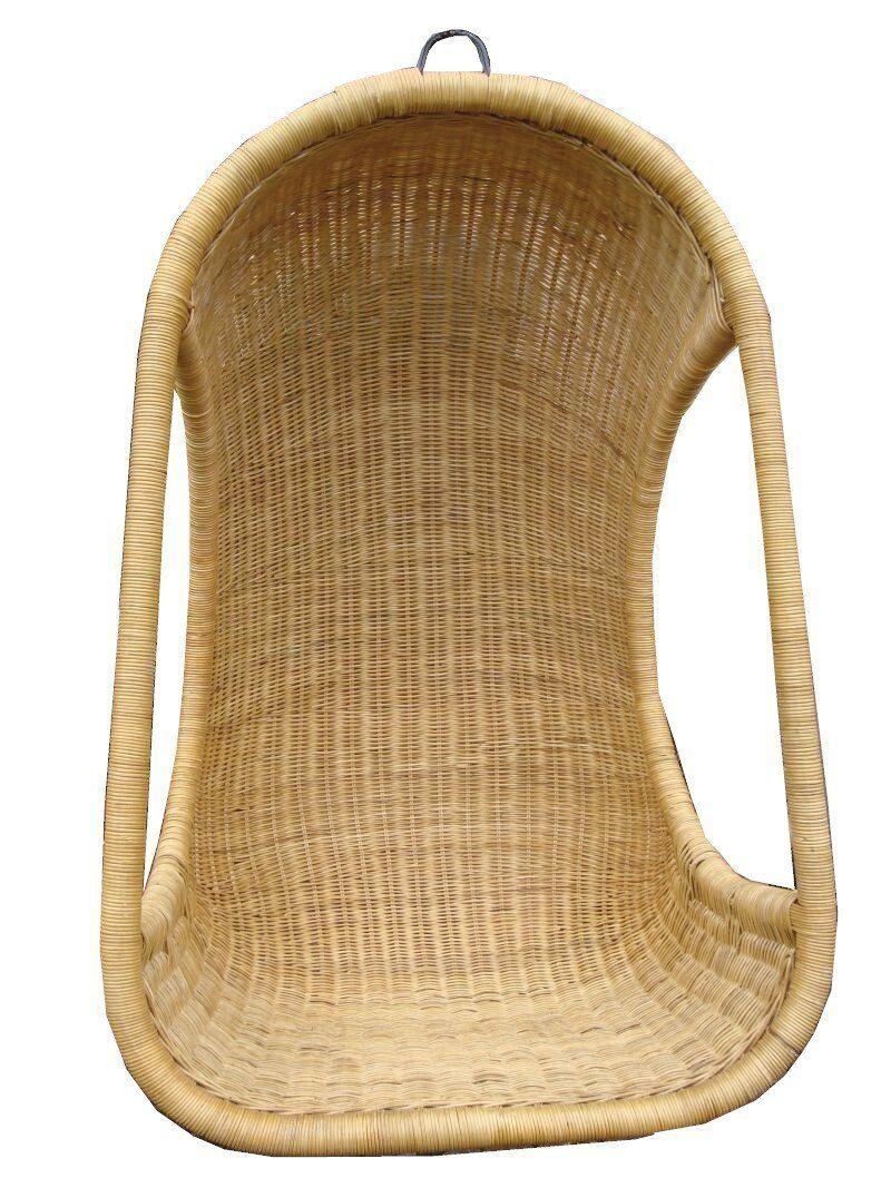 Hanging Swing Chair Hand-Woven Rattan: Amazon.co.uk: Kitchen & Home ...