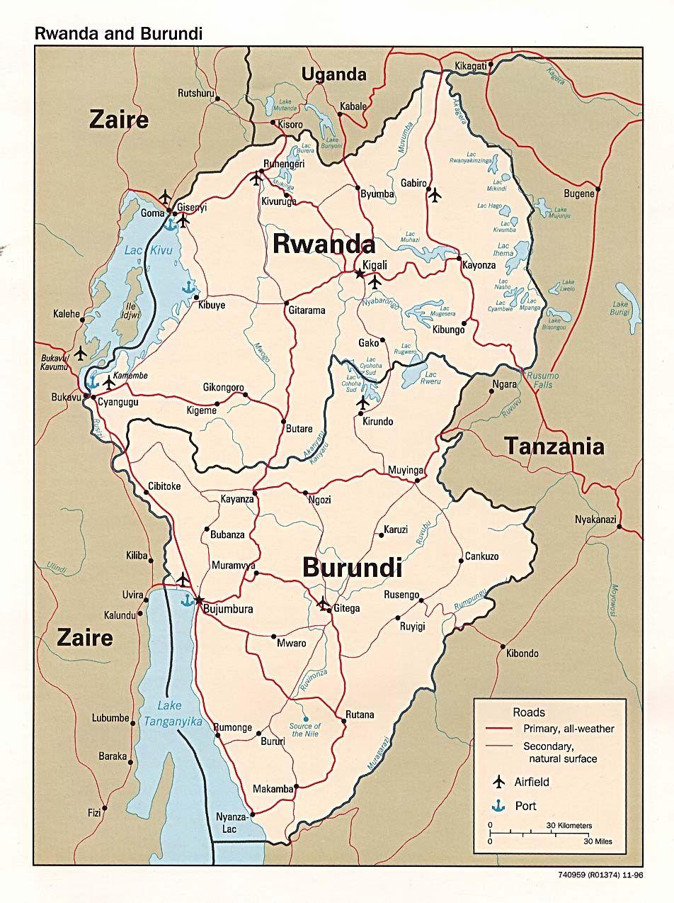 Map Of Rwanda Kibogora Hospital Is On The Banks For Lake Kivu Beaut Map History Geography Burundi