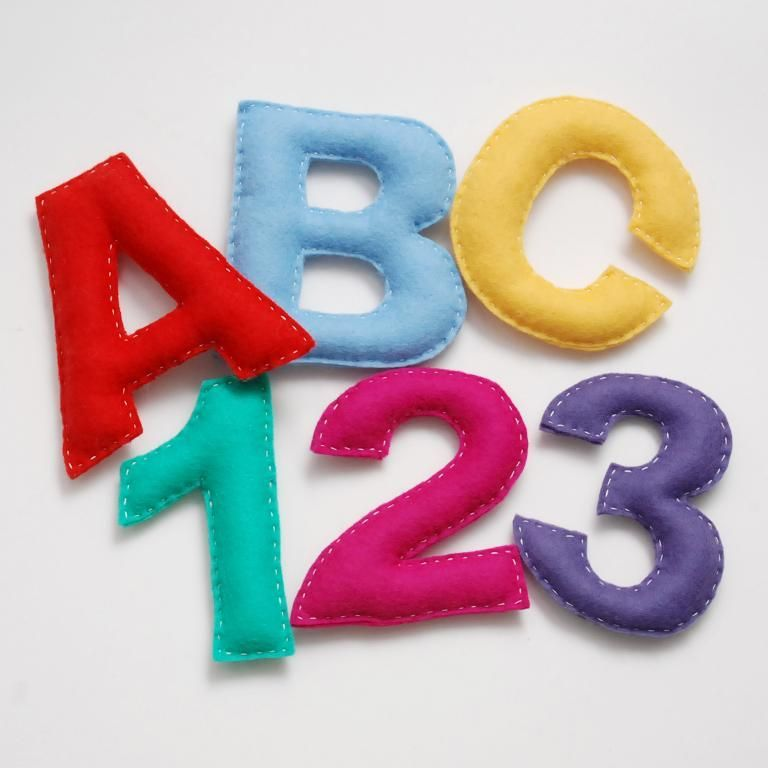 Felt Numbers And Letters Set Pattern On Craftsy Com Felt Letters Letters And Numbers Pdf Pattern