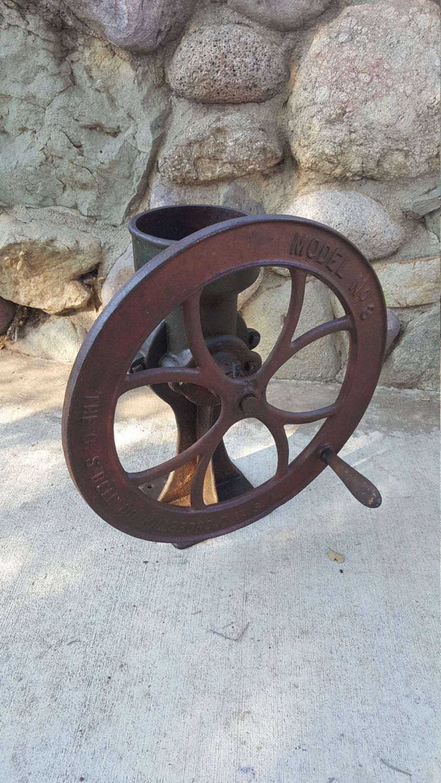 Antique Cs Bell #3 Coffee Grinder Grain Mill Grist