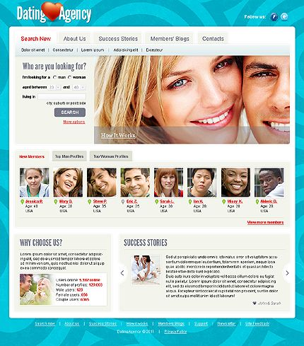 joomla templates dating site