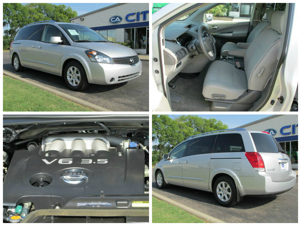 Vehiclespotlight 2009 Nissan Quest 3 5 S Silver Certified Dvd Backup Sensors 4 New Tires Rear Ac Power D Nissan Quest Murfreesboro Tennessee New Tyres