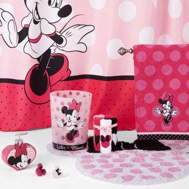 Disney Minnie Mouse Bath Collection Minnie Mouse Bathroom Decor Minnie Mouse Bathroom Disney Bathroom Disney mickey mouse bathroom decor