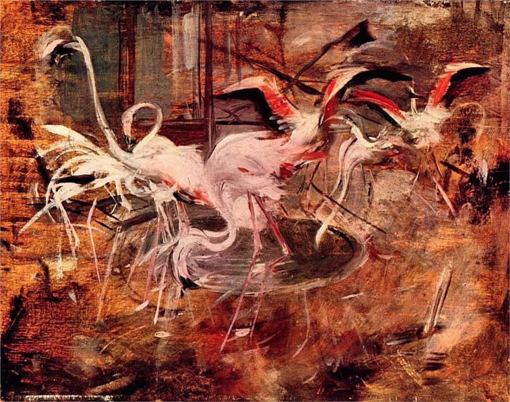 Giovanni Boldini (Italian, 1842-1931) Pink Palace Ibis in the Vesinet, 1910