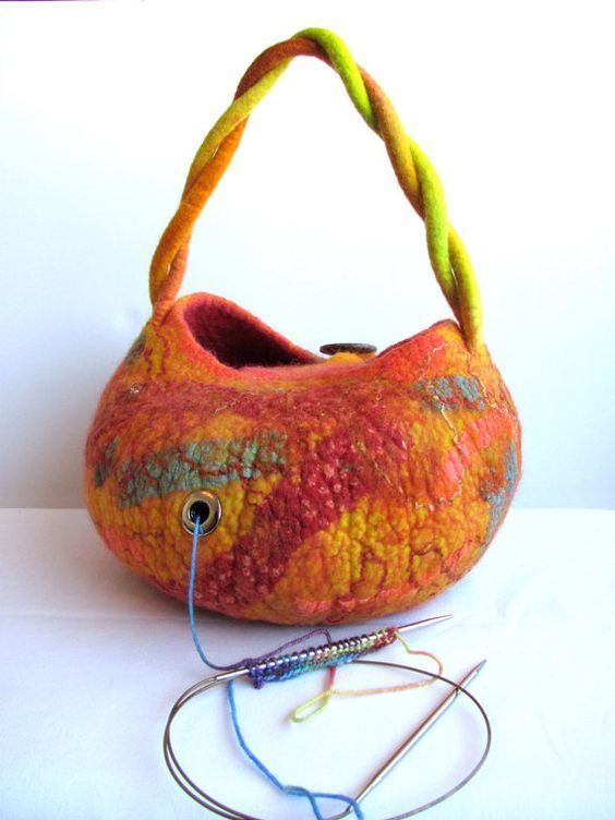 MADE TO ORDER* Yarn bowl made from wet felted wool