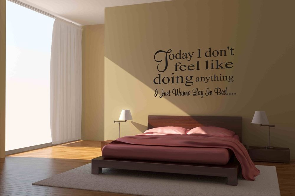 Bruno mars the lazy song lyrics wall sticker wall art - Wandschablonen schlafzimmer ...