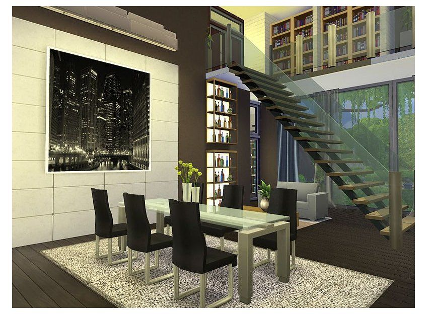 Sims 4 Big Living Room Ideas Sims4biglivingroomideas In 2021 Sims 4 Modern House Sims 4 House Design Sims House