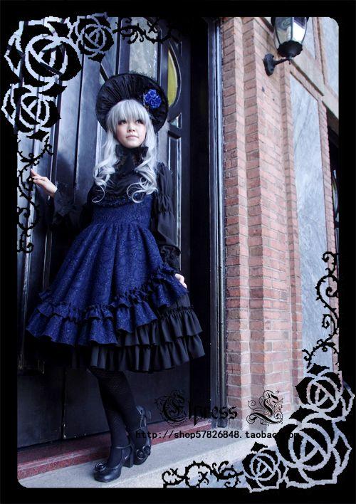 Elpress L] [11 winter - Fall in love with Thanatos LOLITA dress JSK End Sale Showroom - Taobao