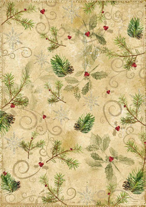 Рождественская бумага для открыток