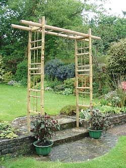 Bamboo Pergola Arbor 3 Feet Wide With Images Bamboo Trellis