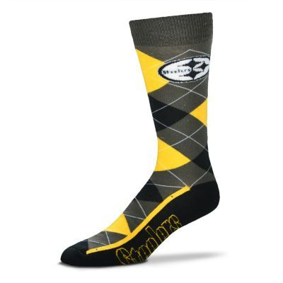 Men's For Bare Feet Pittsburgh Steelers Argyle Dress Socks $10.20