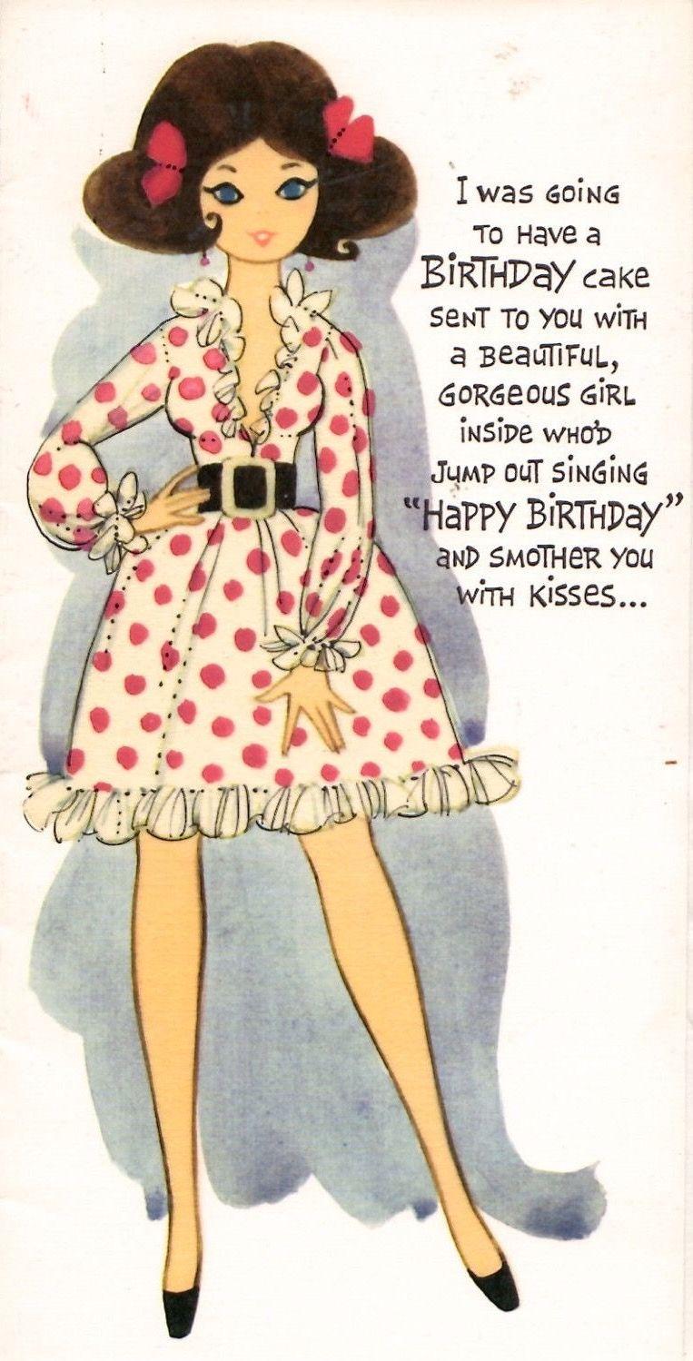 Pin By Daniele On Women Vintage Birthday Cards Vintage Birthday