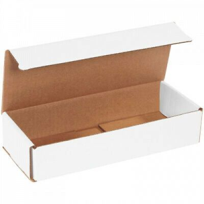 Corrugated White Mailers Box 10 X 4 X 2 Pack Of 50 Shipping Packing Boxes In 2020 Mailer Box Packing Boxes Corrugated