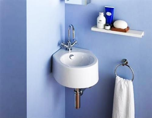 Corner Bathroom Sinks Creating Space Saving Modern Bathroom Design Corner Sink Bathroom Bathroom Design Small Modern Small Space Bathroom
