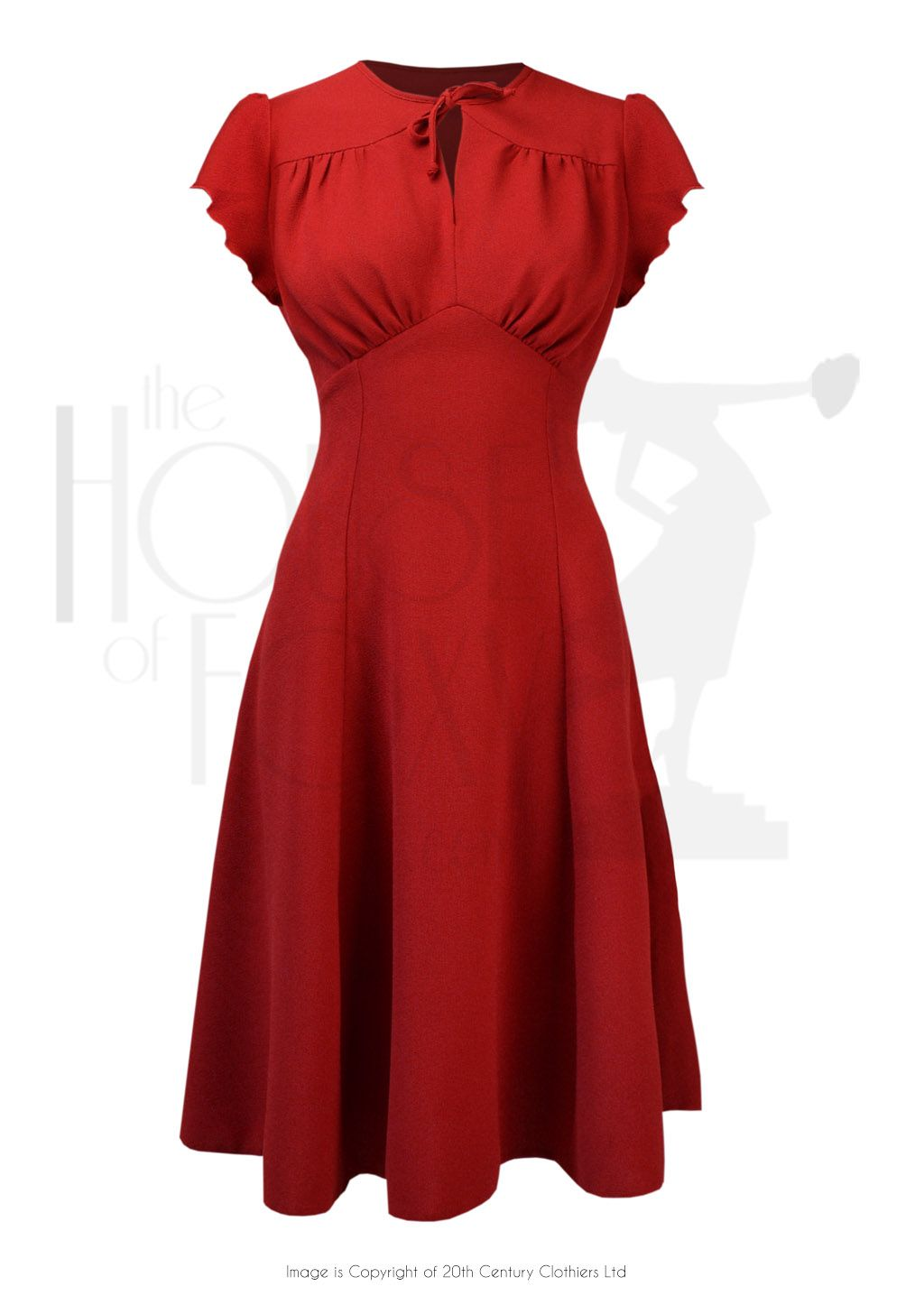 1940s Style Grable Tea Swing Dance Dress In Red Crepe Swing Dance Dress 1940s Fashion 1940s Tea Dress [ 1446 x 1024 Pixel ]