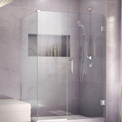 Dreamline Unidoor Plus 37 X 72 Hinged Frameless Shower Enclosure