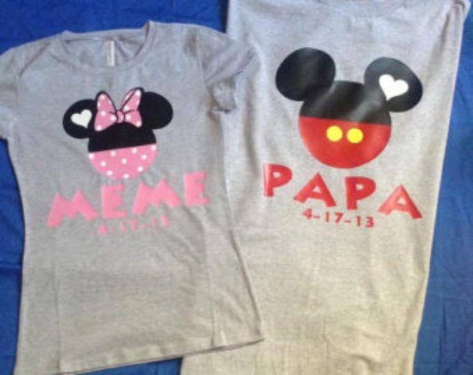 Libre Faast Envio Nos Minnie Y Mickey De Mama Papa Parejas Blusas Camisetas Mommy Daddy Minnie Mickey