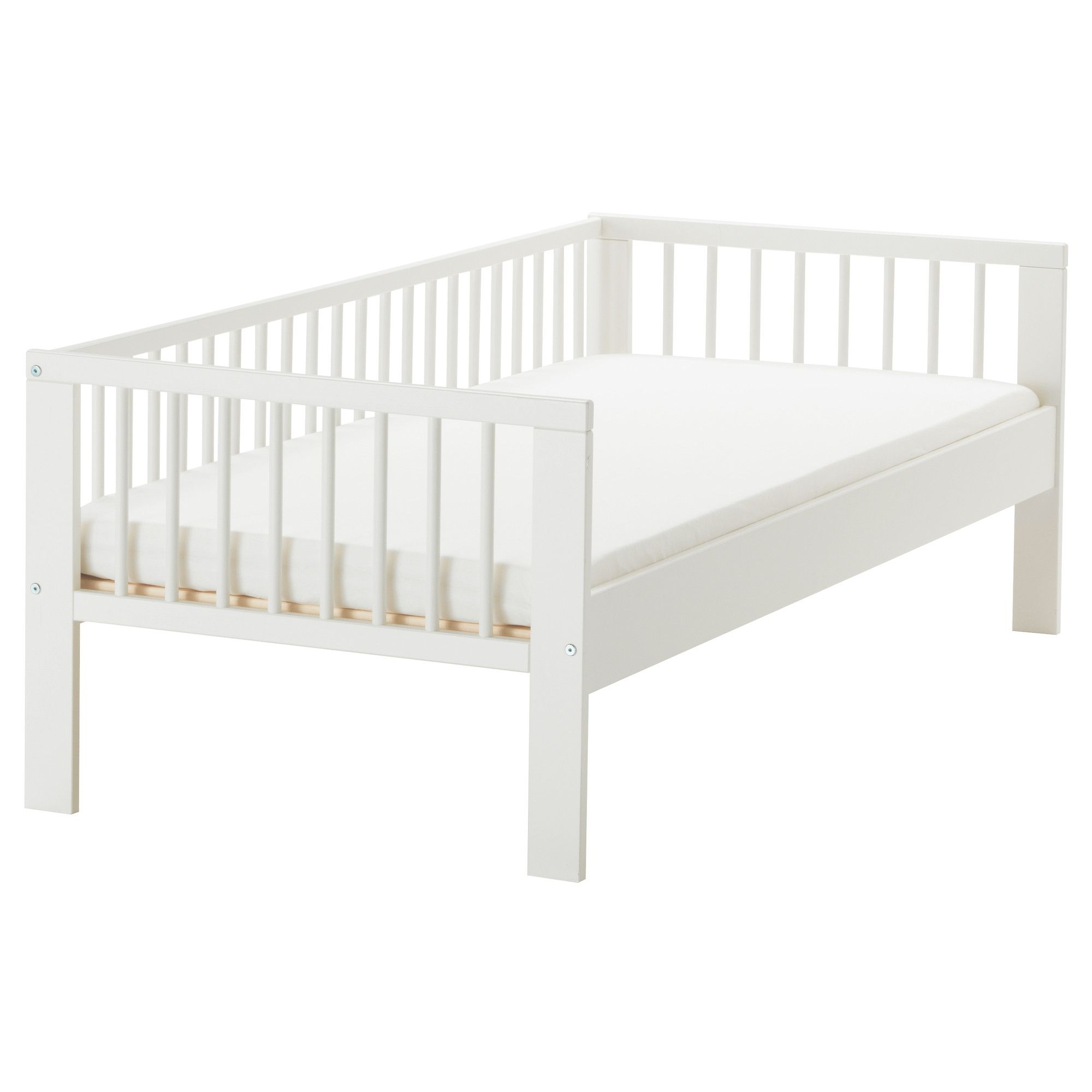 GULLIVER Bed frame with slatted bed base - IKEA. Do the EXPEDIT hack by  putting