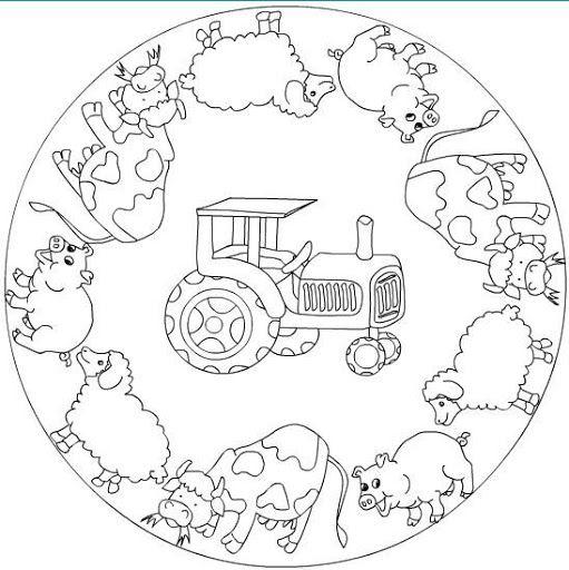 Dibujos y Plantillas para imprimir: Mandalas para niños | omalovánky ...