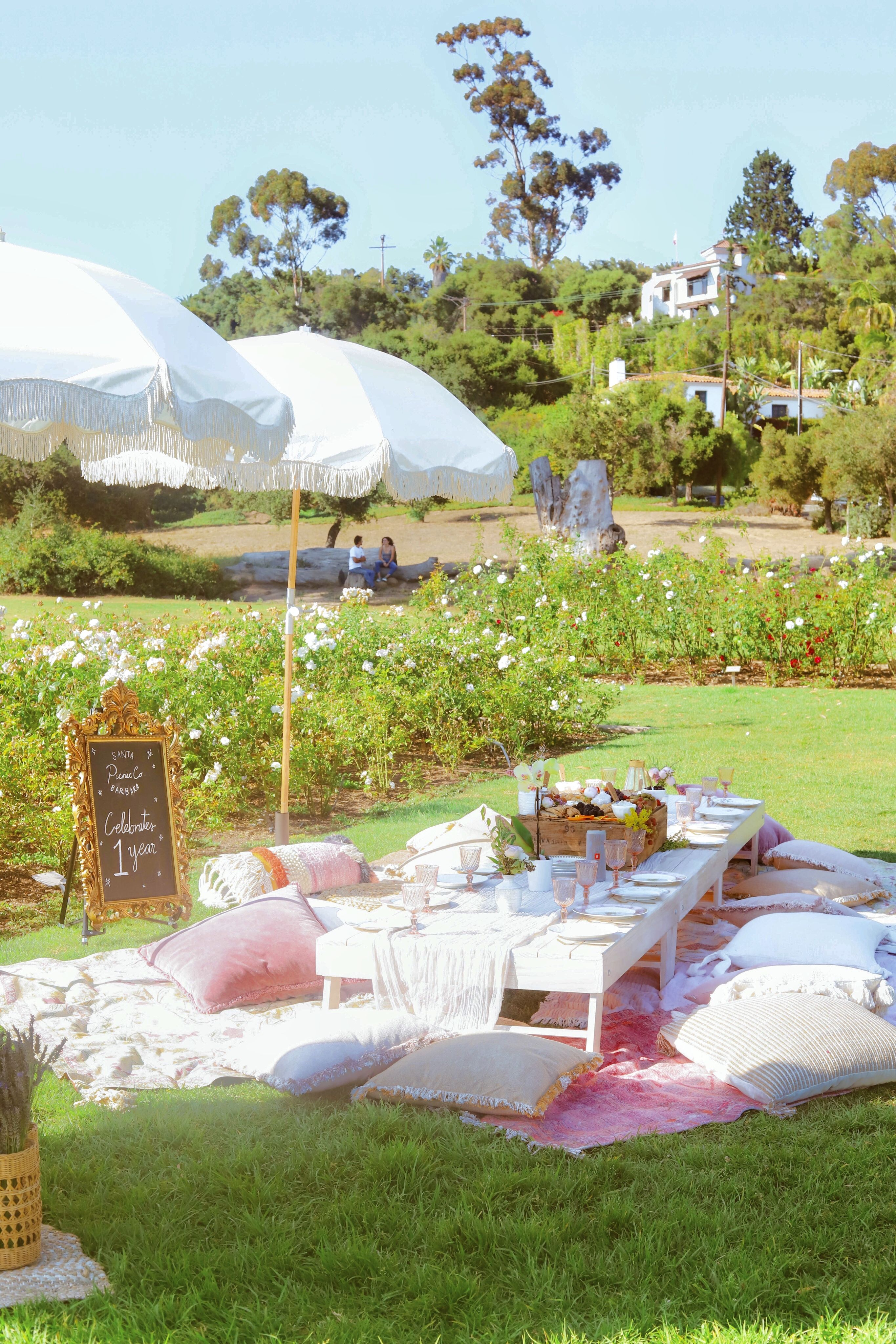 Boho Chic Picnic Party At The Mission Rose Garden In Santa Barbara Kids Picnic Parties Picnic Party Garden Picnic