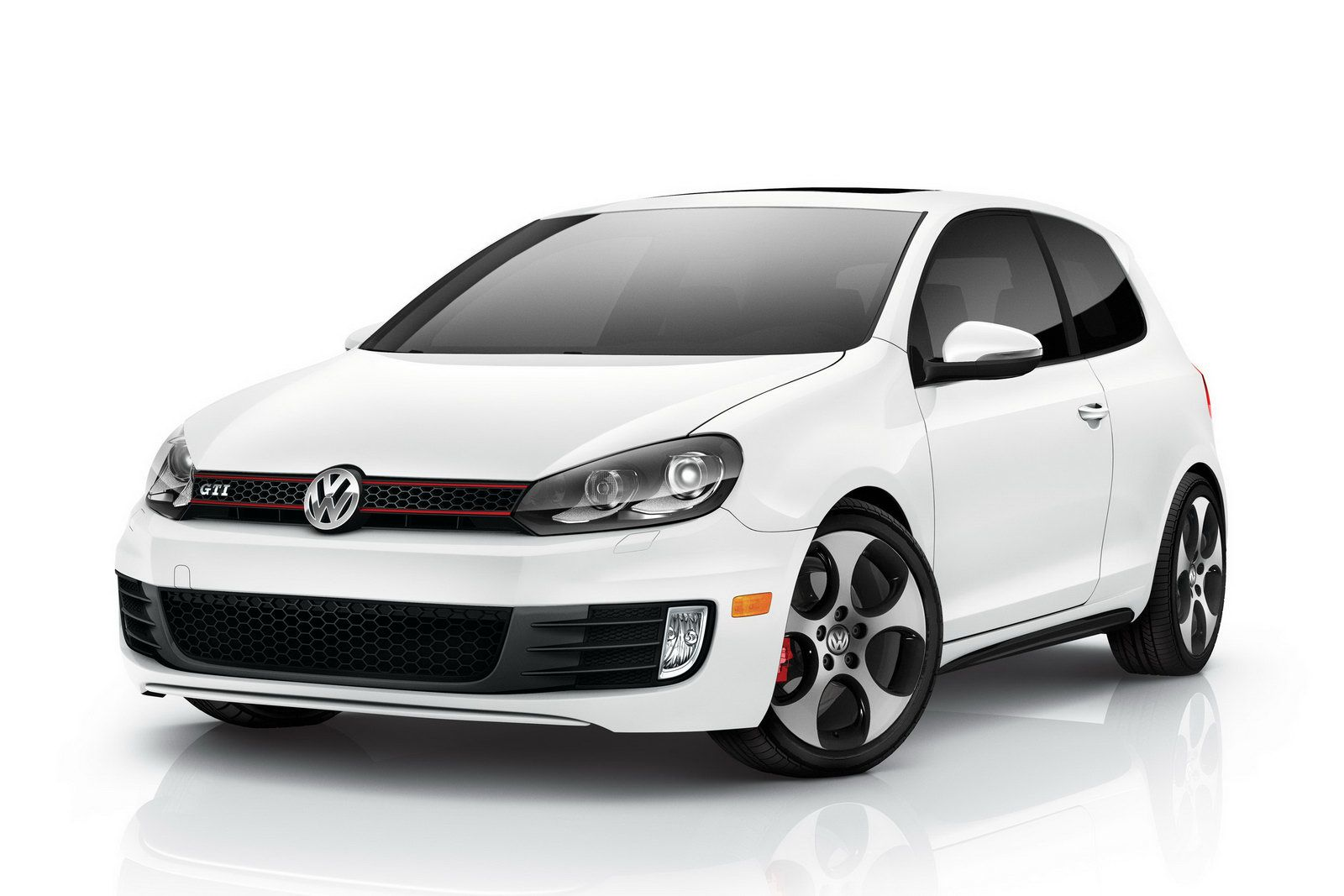 VW 2 Door GTI Ill Take One In White With Black Rims Looks Like A Storm Trooper Car