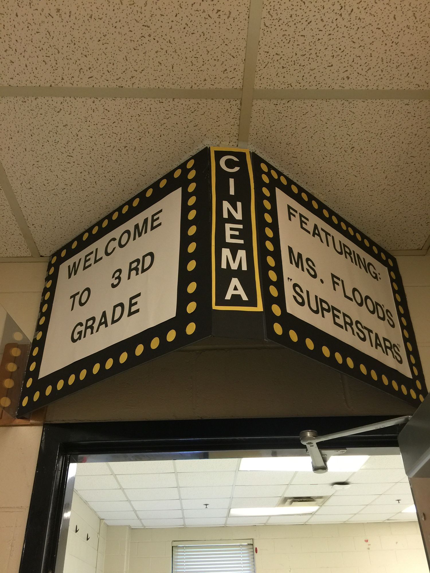 movie theater theme classroom door can add paper or curtain on side