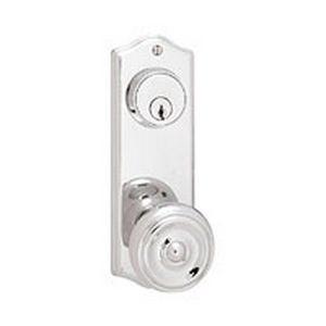 emtek door hardware colonial 3 5 8 c c keyed style door knob 1