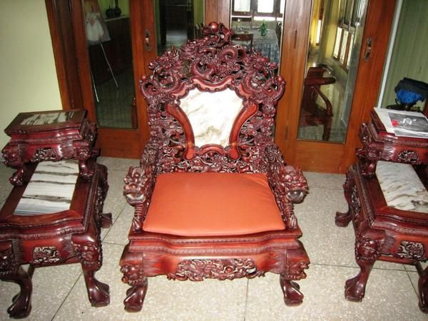 CHINESE HAND MADE Ultra Rare Rose Wood Living Room Furniture Set Oriental Asia Antique Singapore Collectors Piece Home Chairs Sofa