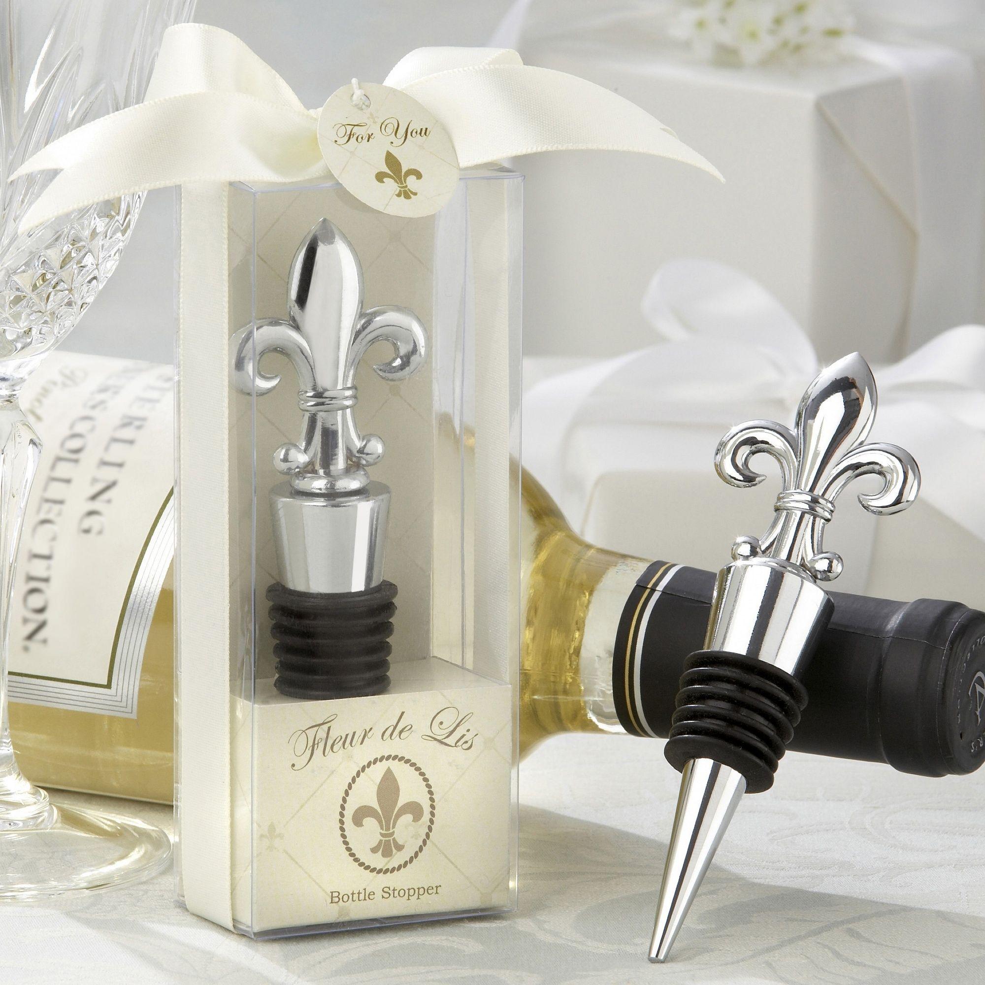 Fleur-de-lis Bottle Stopper Wedding Favor | #exclusivelyweddings ...