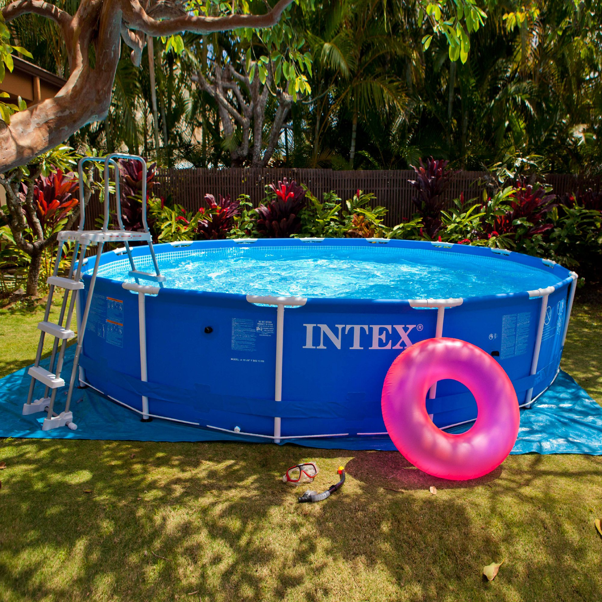 Piscine Ronde Intex Of Kit Piscine Tubulaire Metal Ronde Cm Accessoires