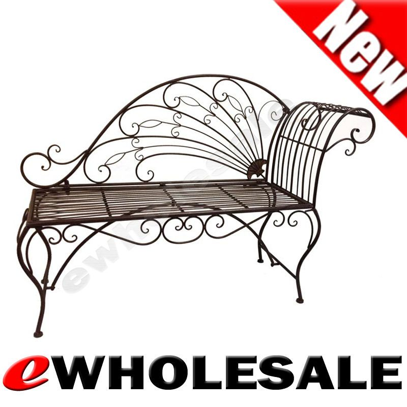 Wrought Iron Metal 2 Seater Love Seat Bench Garden Chair Outdoor Setting Antique Out Of Doors Outdoor Chairs Garden Chairs Love Seat
