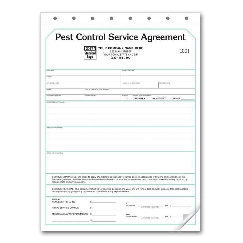 Pest control service agreement Pest Control Services Pinterest - standard service contract