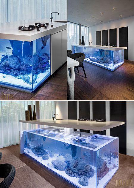 """Aquarium Kitchen Islands : """"unique kitchen counter"""""""