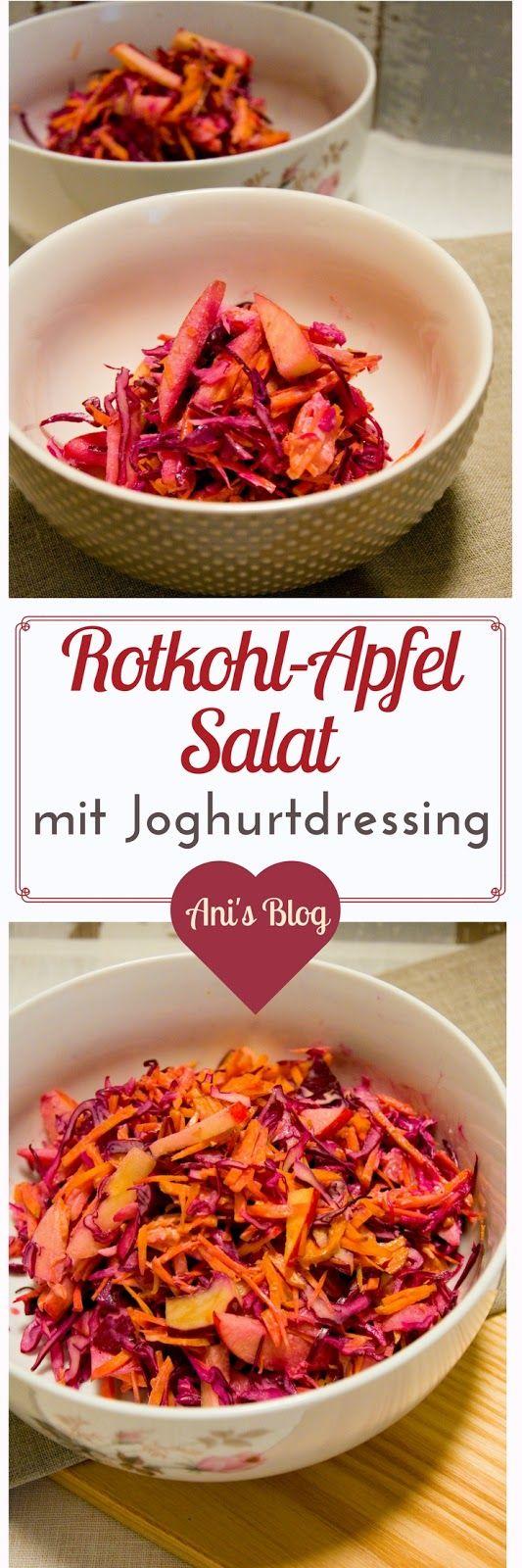 { 5 Zutaten Rezept } Rotkohl-Apfelsalat