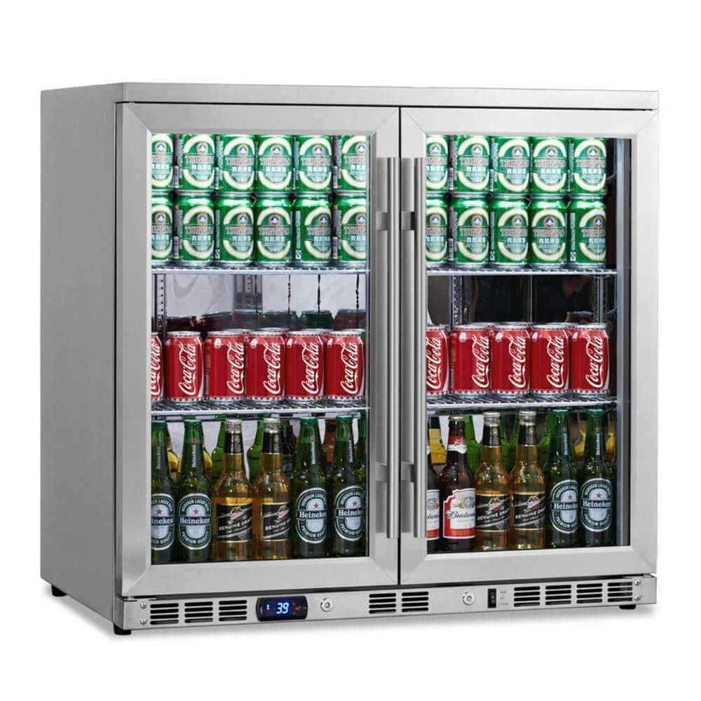 36 Inch Heating Glass 2 Door Built In Beverage Fridge Beverage Refrigerator Beverage Fridge Beverage Cooler