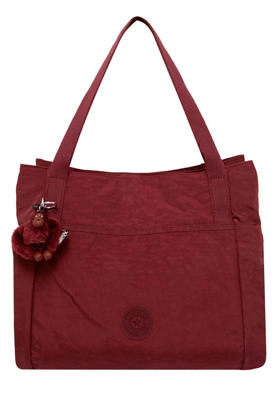 Bolsa Kipling Basic Pravia Crimson Vinho - Compre Agora   Dafiti Brasil 0427f18471