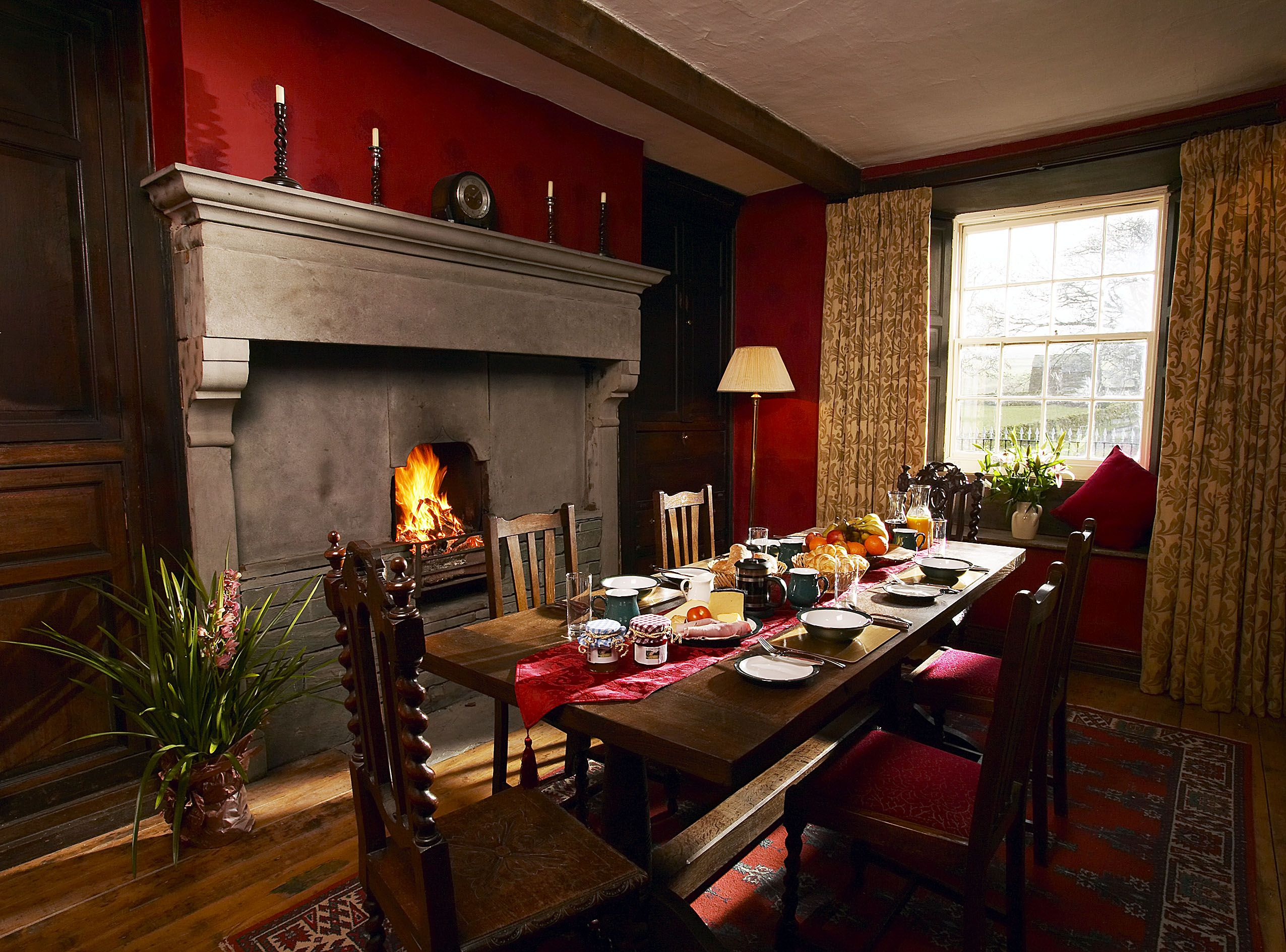 The Farmhouse At A Corner Of Eden Cumbria An Indulging Stay Exquisite Decor Cosy Fire Honesty Bar Champagne Hamper Wellies Barbours To B