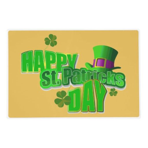Happy St Patrick S Day Placemats Zazzle Com In 2021 Happy St Patricks Day St Patricks Day Pictures St Patrick
