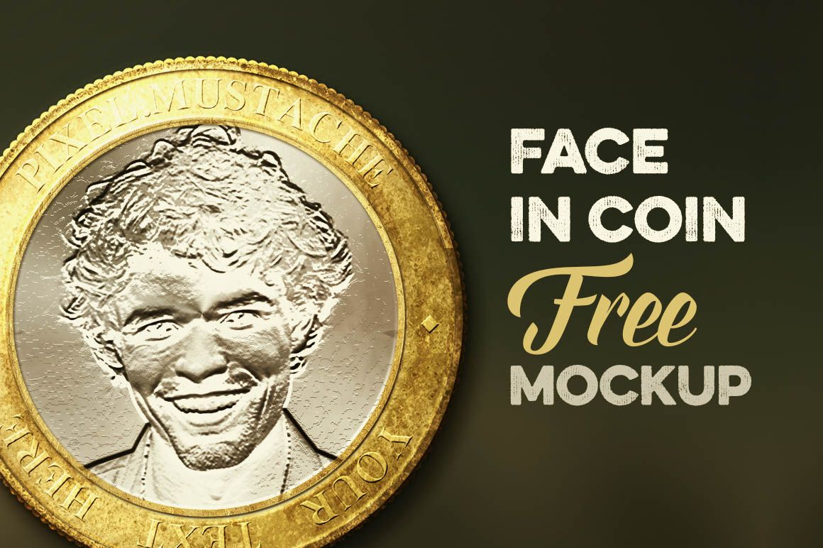 Face in Coin - Free Mock-up | Free Graphic Design Resources | Mockup