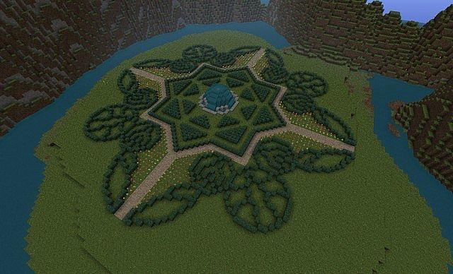 spectacular minecraft garden o