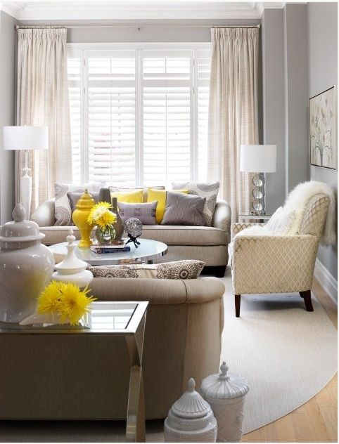 Pin By Aileen On Decoracao Diversos Living Room Grey Grey And Yellow Living Room Living Room Designs