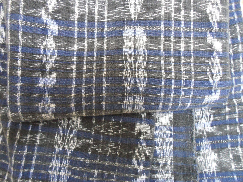 "Guatemalan Frabric Vintage 107""x 33 "" Indigo Ikat Dyed Textile Skirt Corte Huipil de Guatenice en Etsy"
