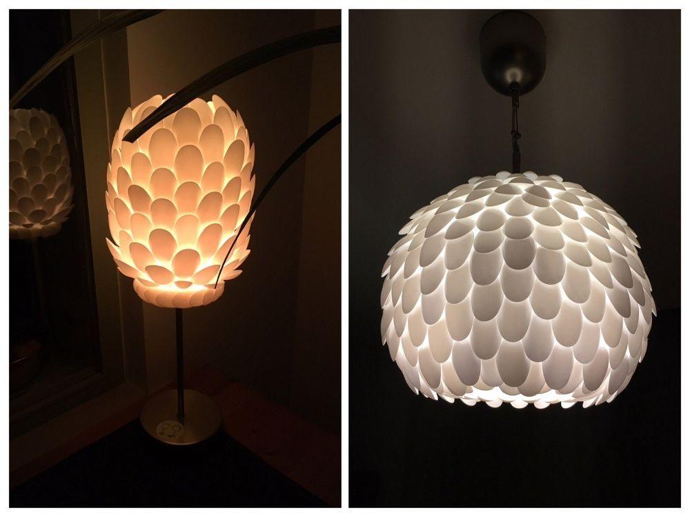 Diy Plastic Spoon Lamp