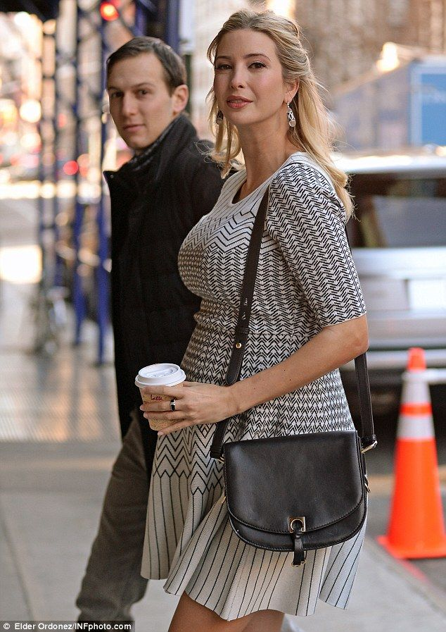 Nine-months pregnant Ivanka Trump steps out for breakfast
