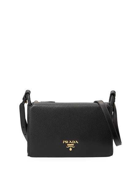 49436fb2f0ac86 PRADA VITELLO DAINO SMALL FLAP BAG, BLACK. #prada #bags #shoulder bags # leather #lining #