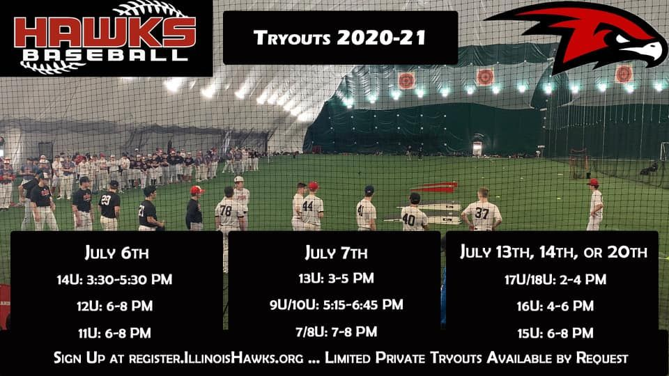 Illinois Hawks In 2020 Travel Baseball Training Schedule Illinois